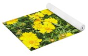 Yellow Flowers Yoga Mat