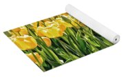 Yellow Tulip Panoramic Yoga Mat