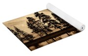 Yellowstone Lake Yoga Mat