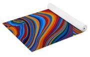 Zebradelic Yoga Mat