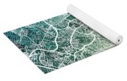 Frankfurt Germany City Map Yoga Mat