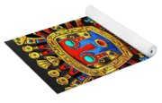 Incan Gods - The Great Creator Viracocha On Black Canvas Yoga Mat