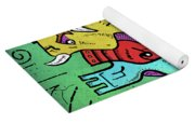 Psychedelic Animals Yoga Mat