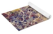 Frankfurt Germany City Map Yoga Mat