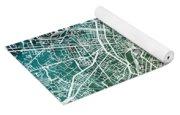Milan Italy City Map Yoga Mat