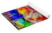 Abstract Fall Acer Stained Glass  Yoga Mat