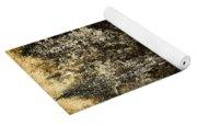 Abstract Scary Ocher Plaster Yoga Mat