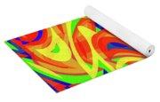Abstract Waves Painting 007192 Yoga Mat
