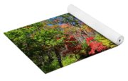 Autumn Color On Newfound Gap Road In Smoky Mountains National Park Yoga Mat