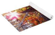 Autumn Starburst Yoga Mat