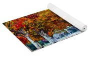Autumn Trees Yoga Mat