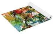 Autumn Trees Watercolors Yoga Mat