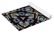 Blue Pattern Yoga Mat