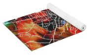 Bogota Colombia Watercolor City Street Map Yoga Mat