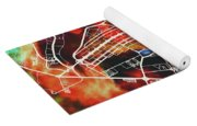 Brasilia Brazil Watercolor City Street Map Yoga Mat