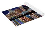 Cleveland Ohio Skyline Reflects Colorfully Yoga Mat