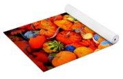 Colorful Tiny Pumpkins Yoga Mat
