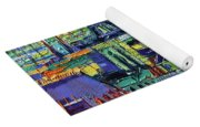 Eiffel Tower And Paris Rooftops In Sunlight Textural Impressionist Stylized Cityscape Mona Edulesco Yoga Mat