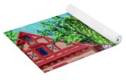 Frankenmuth Downtown Michigan Painting Collage V Yoga Mat