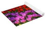 Hidden Garden Of Beautiful Tulips Yoga Mat