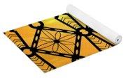 Iron Lattice Pattern St Malo Sunset Yoga Mat