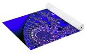 Liquid Blue Paint Yoga Mat