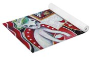 Monaco Cats Red Yoga Mat