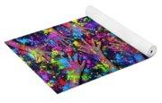 Multicoloured Powder Hands Panoramic Yoga Mat