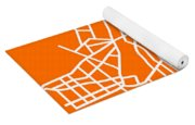 Orange Map Of Athens Yoga Mat