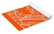 Orange Map Of New York Yoga Mat