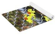 Phoenix Arizona Papago Park Blue Sky Red Rocks Scrub Vegetation Yellow Flowers 3182019 5327 Yoga Mat