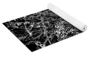 Plant Black And White Abstract Yoga Mat