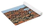 Prescott Arizona Watson Lake Rocks, Hills Water Sky Clouds 3122019 4870 Yoga Mat