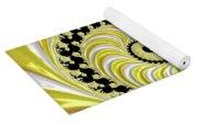Ribbed Yellow Spiral Yoga Mat