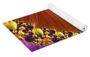 Shiny Purple And Gold Spiral Yoga Mat