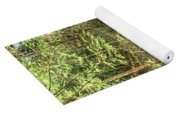 Small Waterfall In Creek And Stone Stairs Yoga Mat