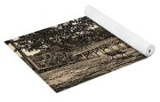 Solitude In Black And White With Sepia Tones Yoga Mat