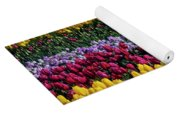Spectacular Rows Of Colorful Tulips Yoga Mat