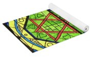 Star Of David Stained Glass Yoga Mat