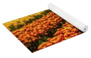 Stunning Rows Of Colorful Tulips Yoga Mat