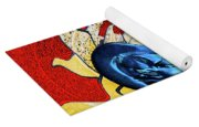 Sun And Moon On Red 2 Yoga Mat