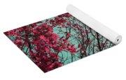 Teal And Fuchsia - Autumn Sunrise Reimagined Yoga Mat