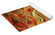 The Butterfly And Pomegranates Yoga Mat