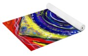 Violet Fish On Red And Yellow Yoga Mat