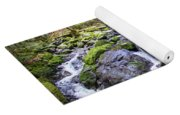 Vivid Green In The Black Forest Yoga Mat