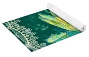 Water Lily And Lace Yoga Mat