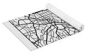 White Map Of Tokyo Yoga Mat