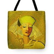 189 Metallic Woman Golden Pearls Tote Bag