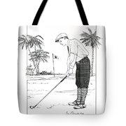 1920's Vintage Golfer Tote Bag