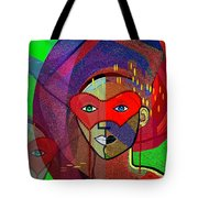 394 - Challenging Woman With Mask Tote Bag